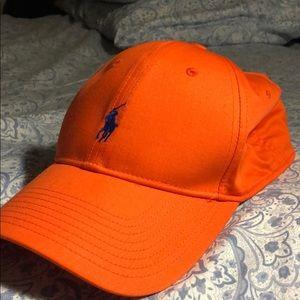 Orange polo cap